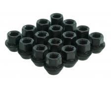 19mm Hex Open Ended Black Wheel Nuts
