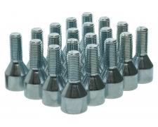 20 x Star Spline Silver OEM Wheel Bolts