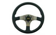 Momo Silver Spoke Tuner Steering Wheel Image